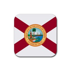 Flag Of Florida, 1900 1985 Rubber Square Coaster (4 Pack)  by abbeyz71