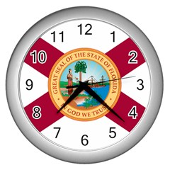 Flag Of Florida, 1900 1985 Wall Clock (silver) by abbeyz71