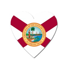 Flag Of Florida, 1900 1985 Heart Magnet by abbeyz71