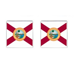 Flag Of Florida, 1900 1985 Cufflinks (square) by abbeyz71