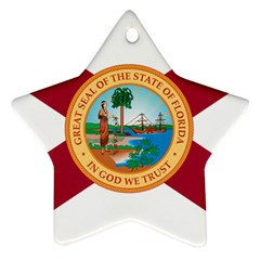 Flag Of Florida, 1900 1985 Star Ornament (two Sides) by abbeyz71