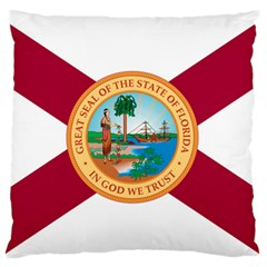 Flag Of Florida, 1900 1985 Large Flano Cushion Case (two Sides) by abbeyz71