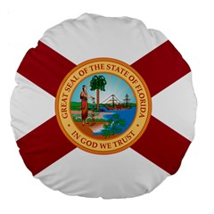 Flag Of Florida, 1900 1985 Large 18  Premium Flano Round Cushions by abbeyz71