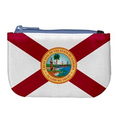 Flag Of Florida, 1900 1985 Large Coin Purse by abbeyz71