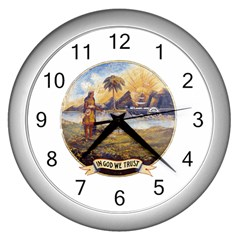 Flag Of Florida, 1868 1900 Wall Clock (silver) by abbeyz71