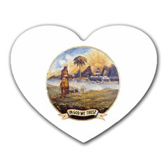 Flag Of Florida, 1868 1900 Heart Mousepads by abbeyz71