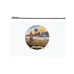 Flag Of Florida, 1868 1900 Cosmetic Bag (large) by abbeyz71
