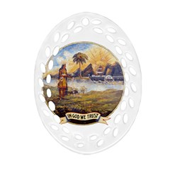 Flag Of Florida, 1868 1900 Ornament (oval Filigree) by abbeyz71