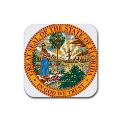 Great Seal Of Florida  Rubber Square Coaster (4 Pack)  by abbeyz71