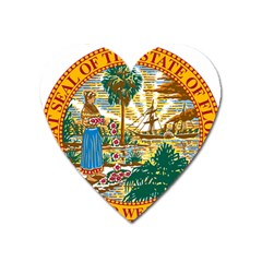 Great Seal Of Florida  Heart Magnet by abbeyz71