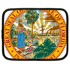 Great Seal Of Florida  Netbook Case (xxl) by abbeyz71