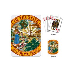 Great Seal Of Florida  Playing Cards (mini) by abbeyz71
