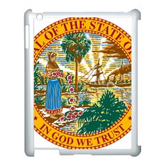 Great Seal Of Florida  Apple Ipad 3/4 Case (white) by abbeyz71