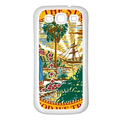 Great Seal Of Florida  Samsung Galaxy S3 Back Case (white) by abbeyz71