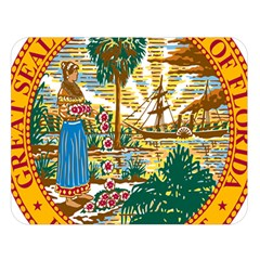 Great Seal Of Florida  Double Sided Flano Blanket (large)  by abbeyz71