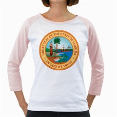 Great Seal Of Florida, 1900 1985 Girly Raglan by abbeyz71