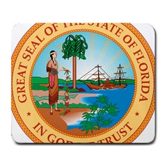 Great Seal Of Florida, 1900 1985 Large Mousepads by abbeyz71