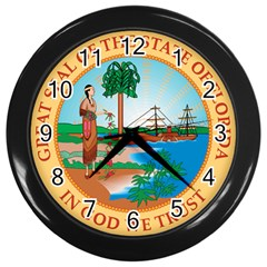 Great Seal Of Florida, 1900 1985 Wall Clock (black)