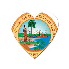 Great Seal Of Florida, 1900 1985 Heart Magnet by abbeyz71
