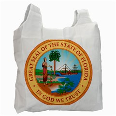 Great Seal Of Florida, 1900 1985 Recycle Bag (two Side) by abbeyz71