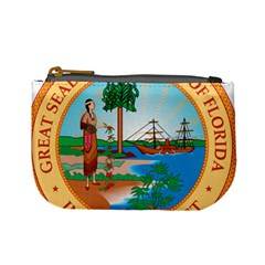 Great Seal Of Florida, 1900 1985 Mini Coin Purse by abbeyz71