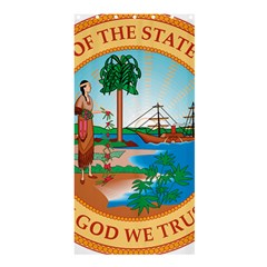 Great Seal Of Florida, 1900 1985 Shower Curtain 36  X 72  (stall)  by abbeyz71