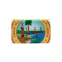 Great Seal Of Florida, 1900 1985 Cosmetic Bag (xs) by abbeyz71