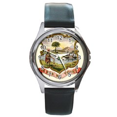 Historical Florida Coat Of Arms Round Metal Watch by abbeyz71