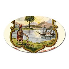 Historical Florida Coat Of Arms Oval Magnet
