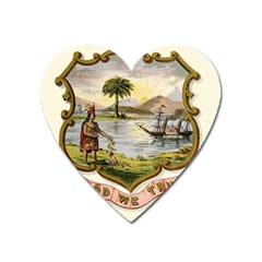 Historical Florida Coat Of Arms Heart Magnet by abbeyz71