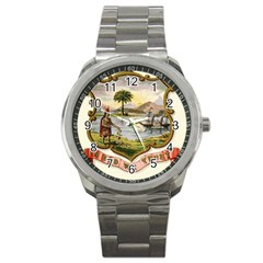 Historical Florida Coat Of Arms Sport Metal Watch by abbeyz71
