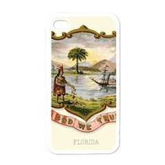 Historical Florida Coat Of Arms Apple Iphone 4 Case (white) by abbeyz71