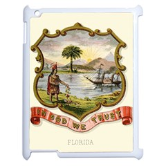 Historical Florida Coat Of Arms Apple Ipad 2 Case (white) by abbeyz71