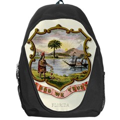 Historical Florida Coat Of Arms Backpack Bag by abbeyz71