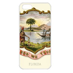 Historical Florida Coat Of Arms Apple Iphone 5 Seamless Case (white) by abbeyz71