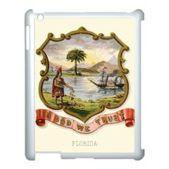 Historical Florida Coat Of Arms Apple Ipad 3/4 Case (white) by abbeyz71