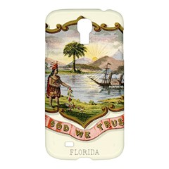 Historical Florida Coat Of Arms Samsung Galaxy S4 I9500/i9505 Hardshell Case by abbeyz71