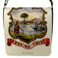 Historical Florida Coat Of Arms Flap Closure Messenger Bag (s) by abbeyz71