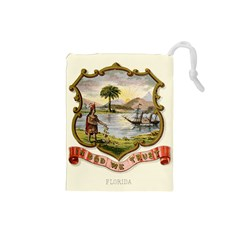 Historical Florida Coat Of Arms Drawstring Pouch (small) by abbeyz71