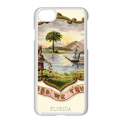 Historical Florida Coat Of Arms Apple Iphone 8 Seamless Case (white) by abbeyz71