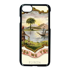 Historical Florida Coat Of Arms Apple Iphone 8 Seamless Case (black) by abbeyz71