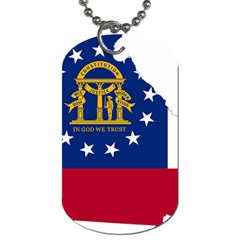 Flag Map Of Georgia Dog Tag (one Side) by abbeyz71
