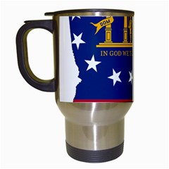 Flag Map Of Georgia Travel Mugs (white) by abbeyz71