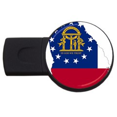 Flag Map Of Georgia Usb Flash Drive Round (4 Gb) by abbeyz71