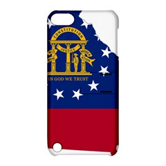 Flag Map Of Georgia Apple Ipod Touch 5 Hardshell Case With Stand by abbeyz71