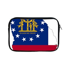 Flag Map Of Georgia Apple Ipad Mini Zipper Cases by abbeyz71