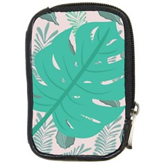 Palm Botanical Leaf Love Compact Camera Leather Case by 2799018