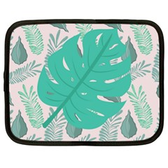 Palm Botanical Leaf Love Netbook Case (xl) by 2799018