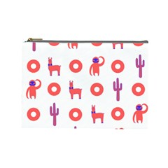 Phish Phans Lama, Sloth, Cactus, Donut Cosmetic Bag (large) by 2799018