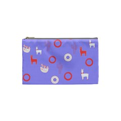 Phish Phans Periwinkle Blue Lama, Sloth, Cactus, Donut Swirl;  Cosmetic Bag, Travel Bag, Makeup Bag Cosmetic Bag (small) by 2799018